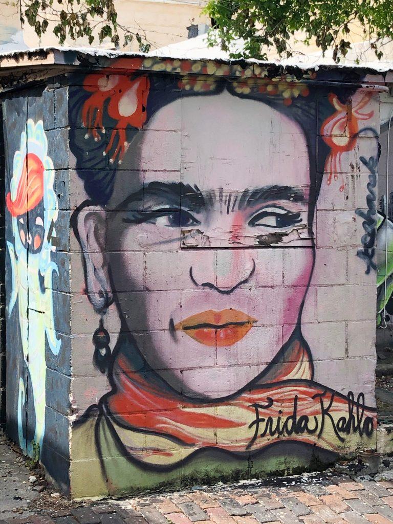 Walking mural tour St Petersburg Frida Kahlo