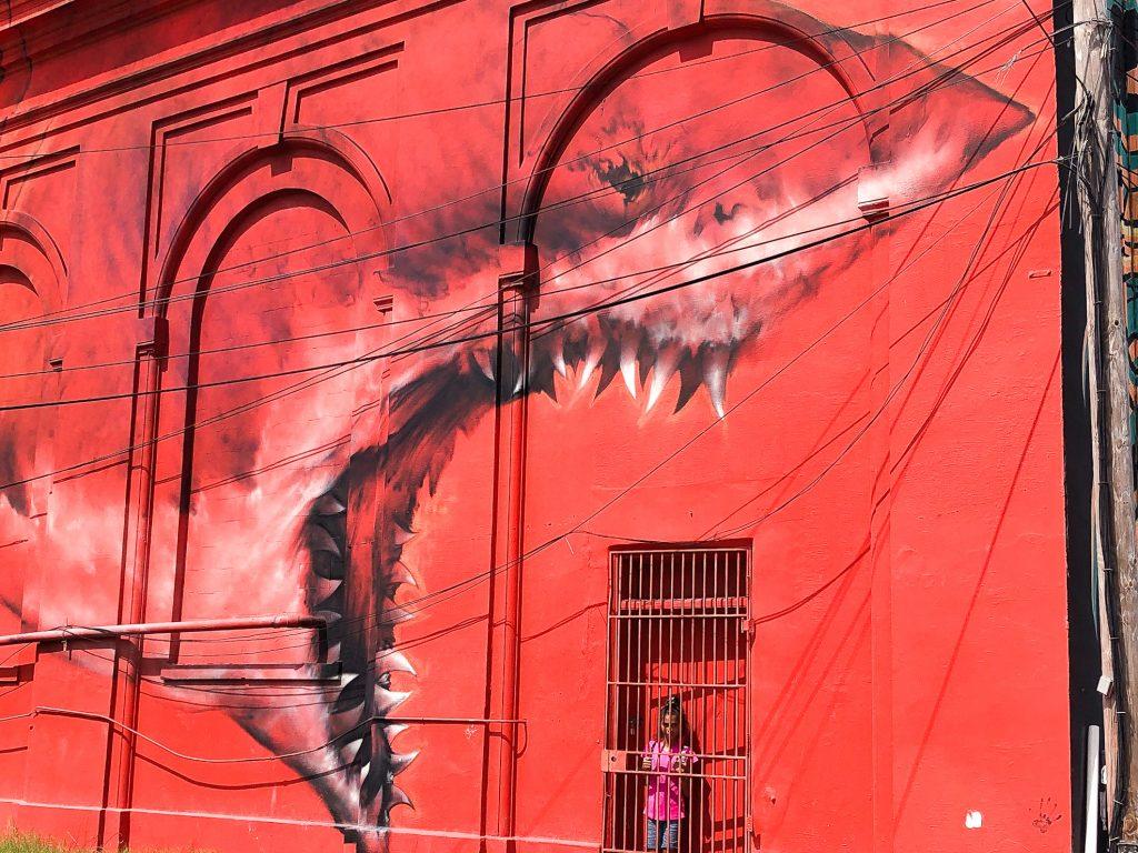 Shark Toof mural Walking Mural Tour in St Petersburg