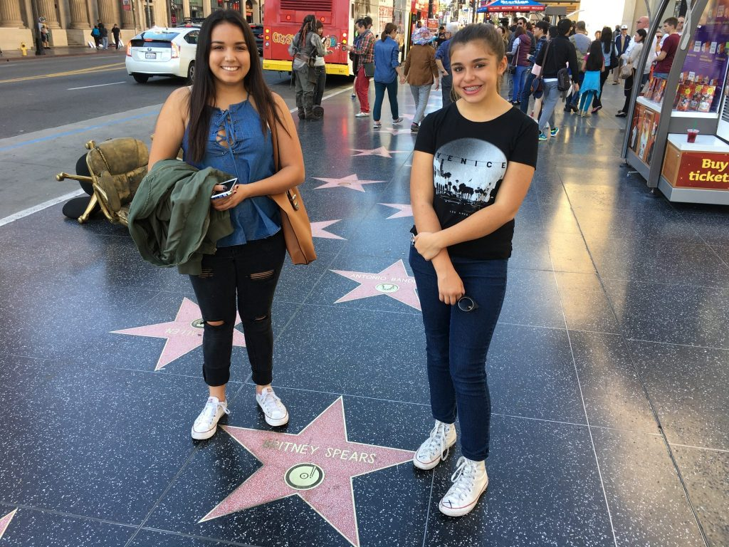 Hollywood Walk of Fame with Britney Spears star