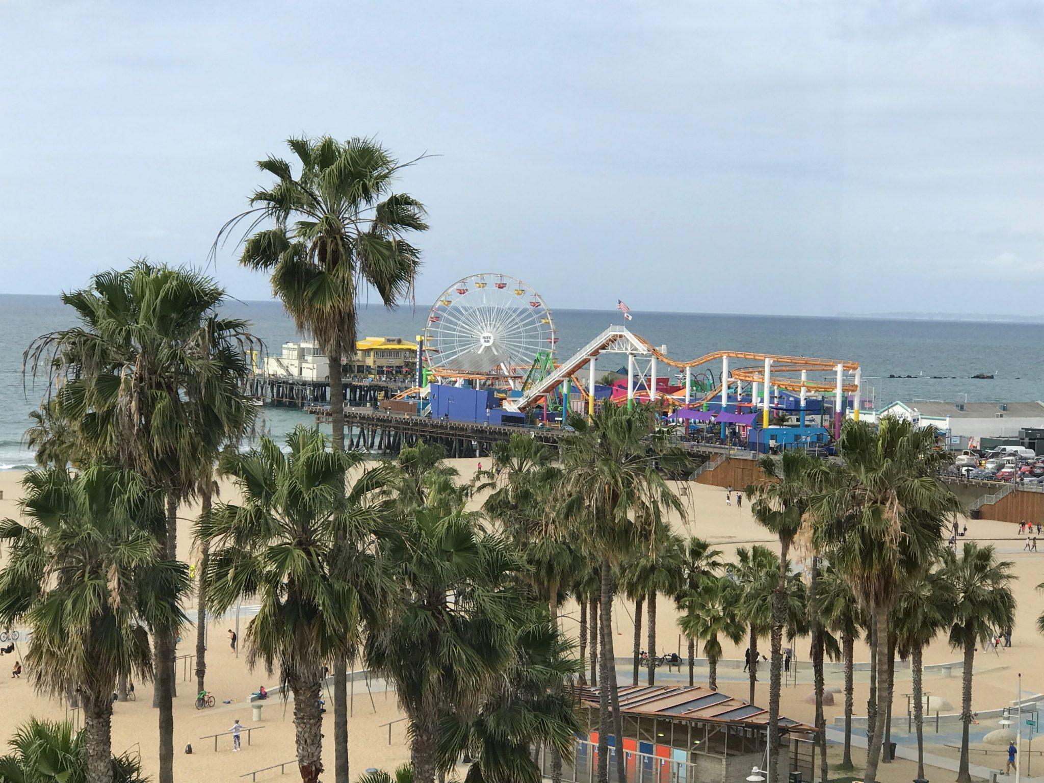 Santa Monica Pier from Loews Hotel view