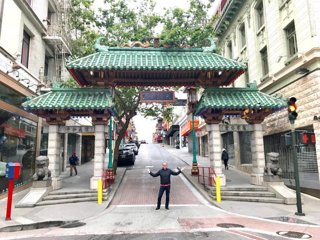 Grant Street entrance gates to China Town San Francisco