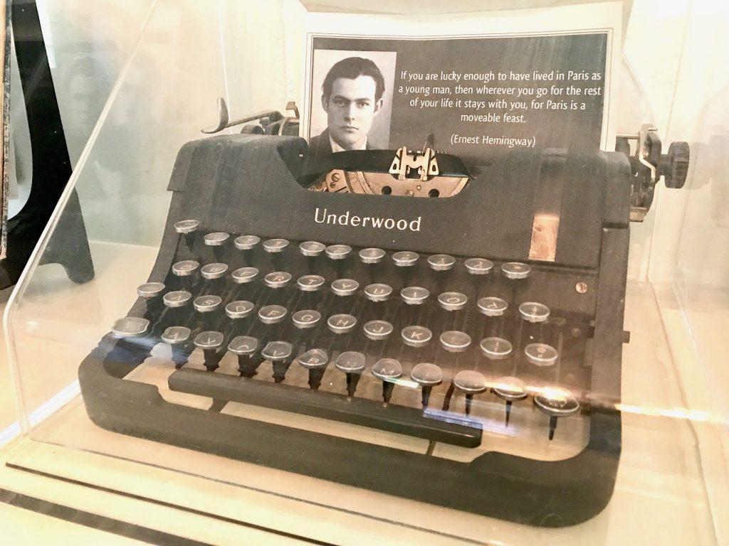 Hemingway's typewriter at Hemingway Home Key West