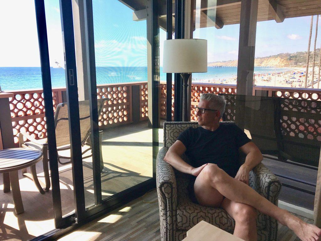 hotel room view at La Jolla Shores Hotel