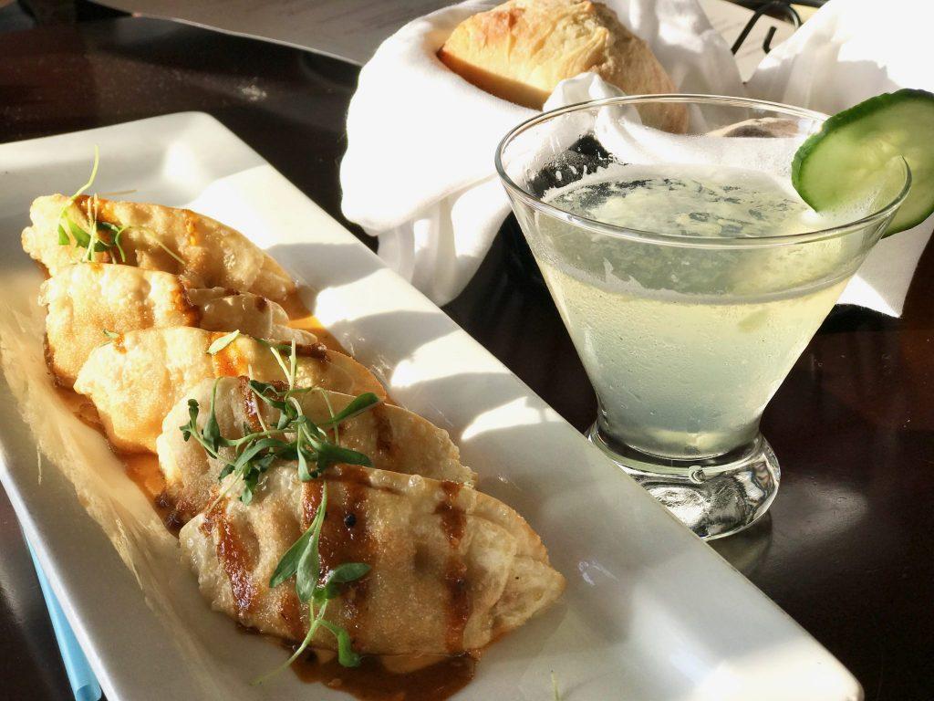 chicken potstickers at La Jolla Shores Hotel