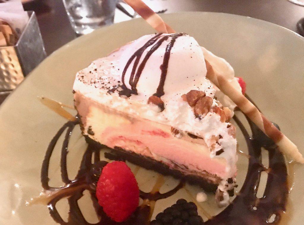 Banana Split Mudd Pie at Shores Restaurant La Jolla