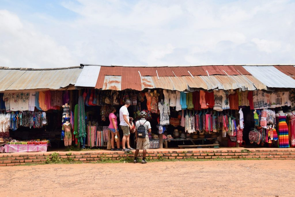 roadside storefronts in Siem Reap, Cambodia