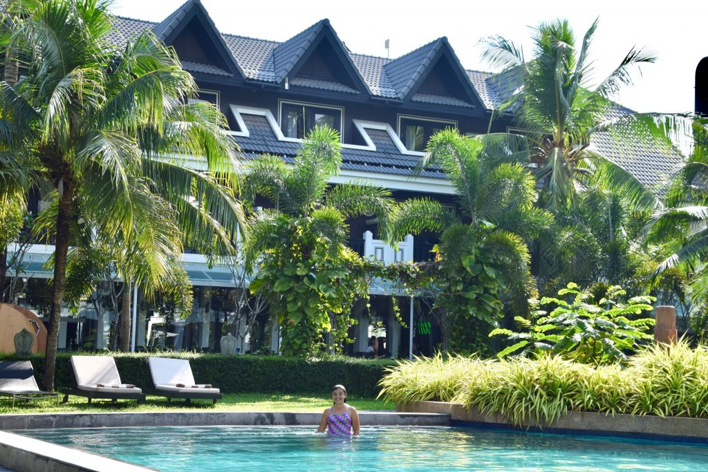 pool and guest rooms at Shinta Mani Resort, Siem Reap, Cambodia