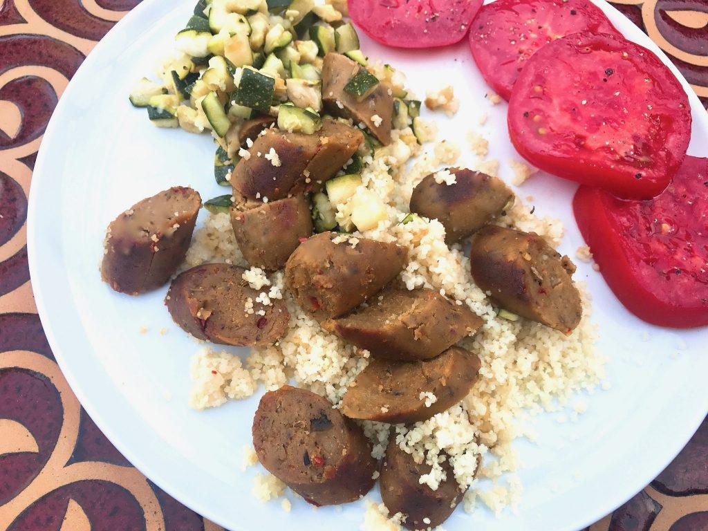 vegetarian sausage dinner