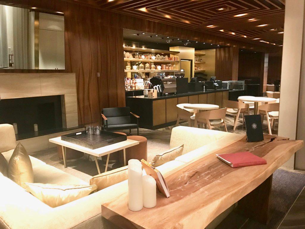 lobby cafe at Delano Hotel Las Vegas