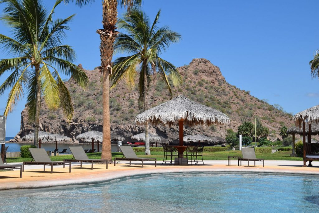 pool and beach at Loreto Bay, Mexico