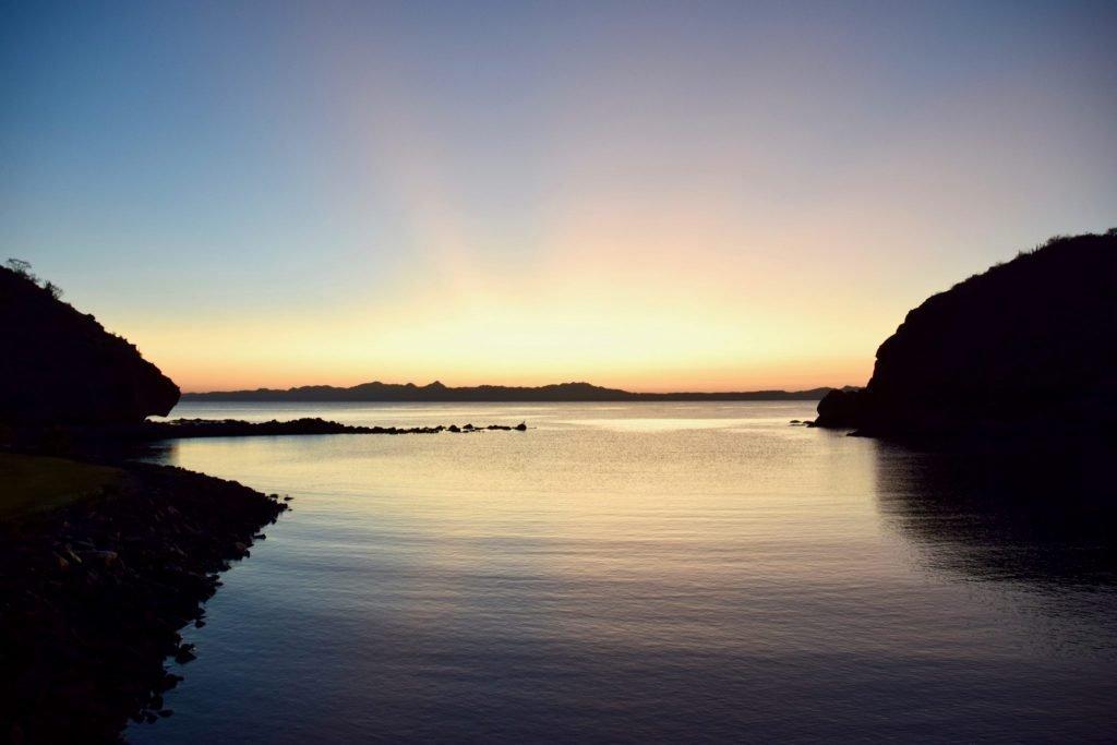 Sunrise over Loreto Bay Golf Course, Loreto, Mexico