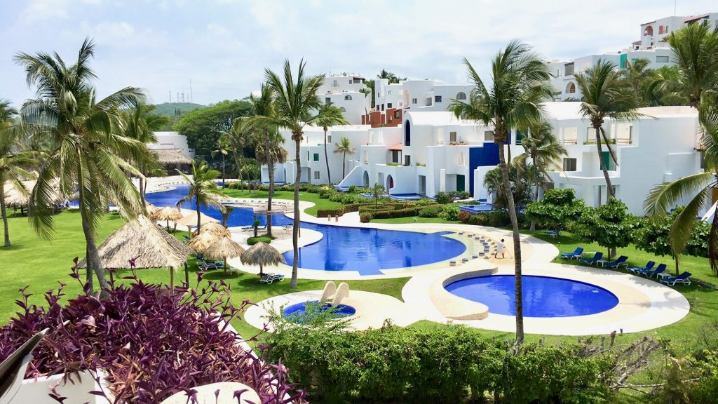 Pools at Camino Real Zaashila in Huatulco, Mexico