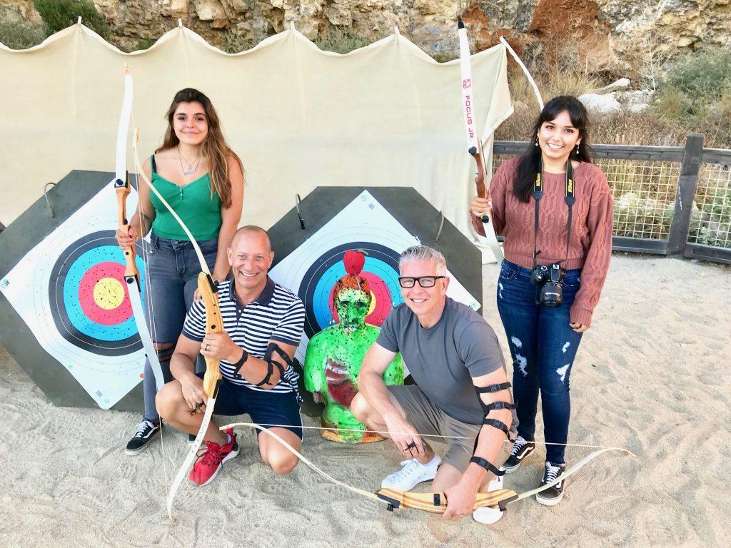 family archery lesson at Terranea Resort & Spa in Rancho Palos Verdes, California