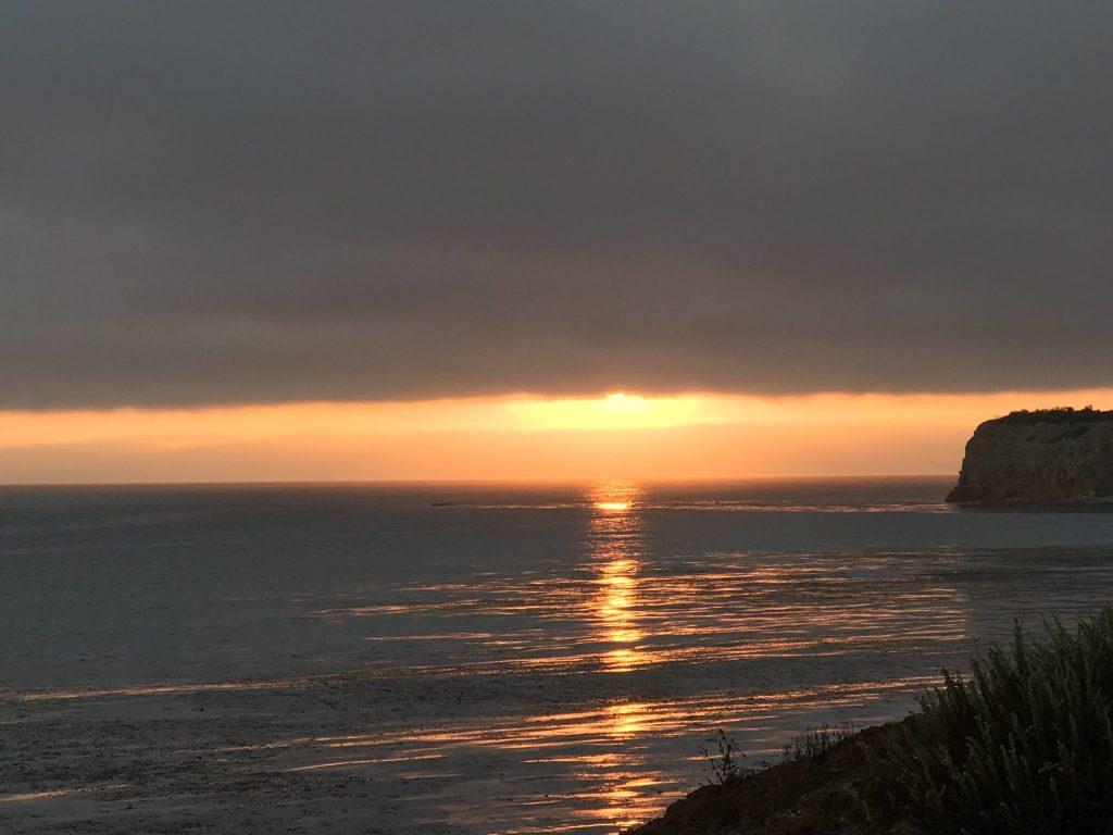 Sunset over the Pacific Ocean at Terranea Resort