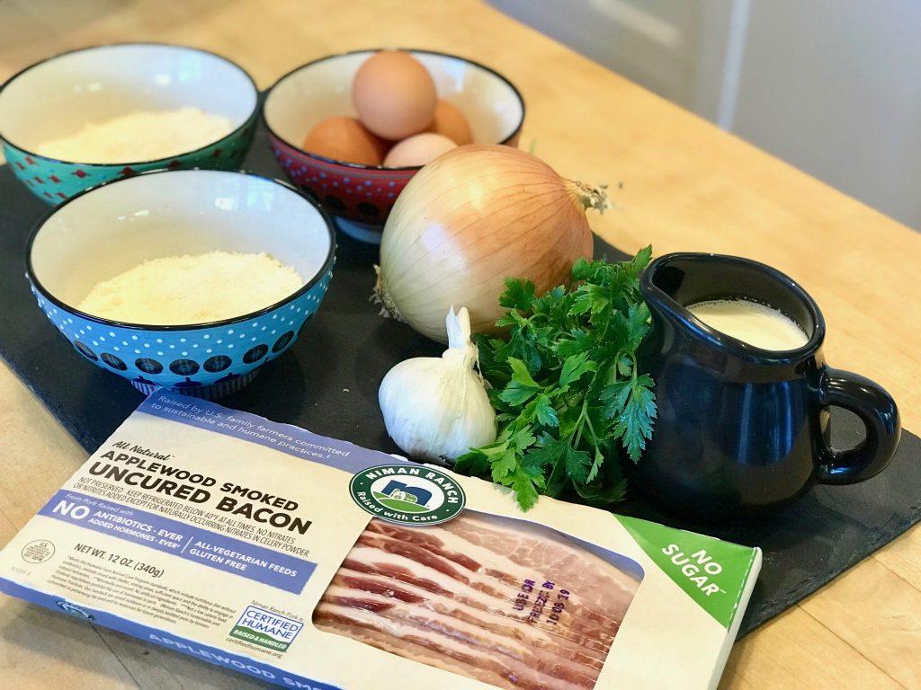 ingredients to make Pasta Carbonara