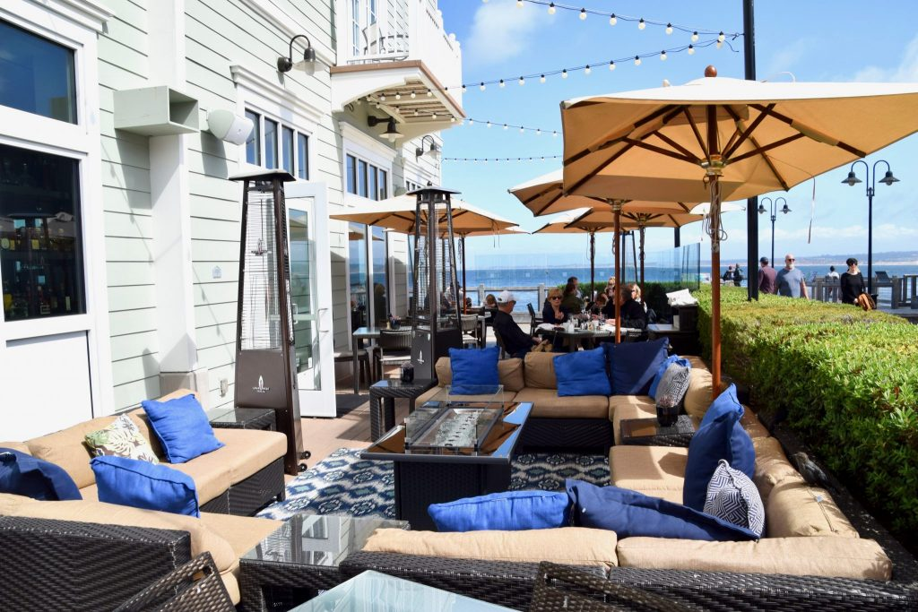 The C restaurant outdoor seating, Cannery Row, Monterey, California