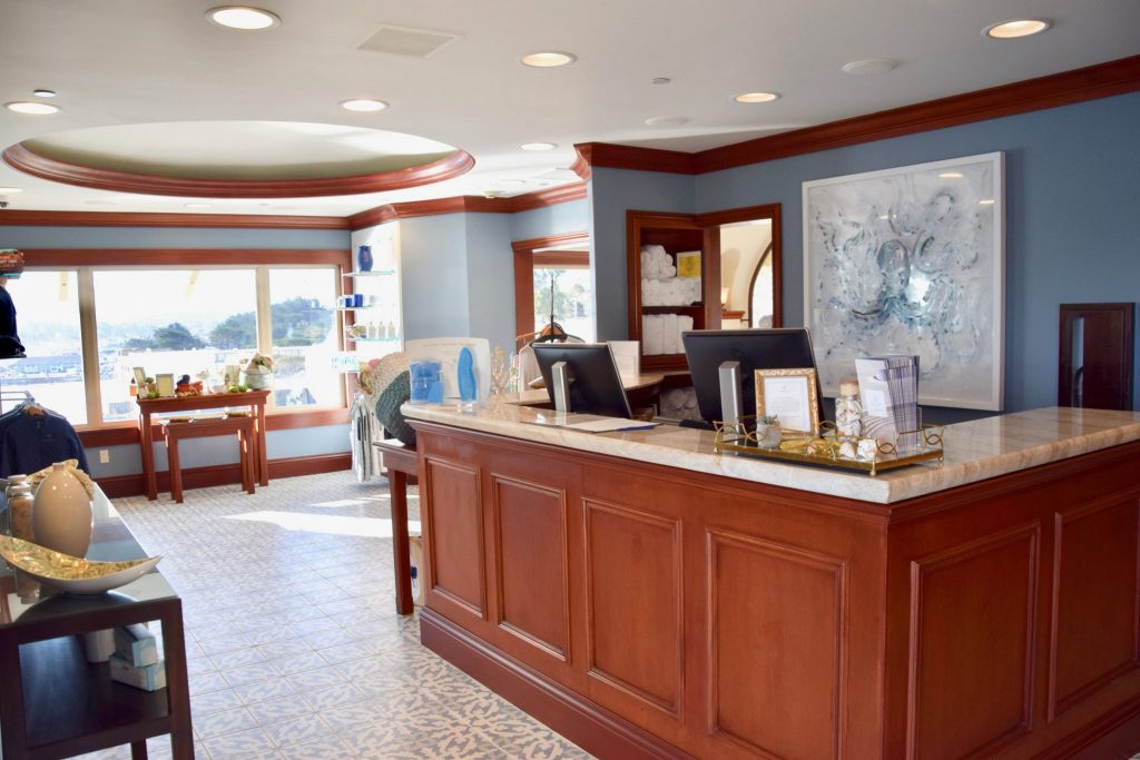 Vista Blue Spa lobby at the Monterey Plaza Hotel & Spa, Monterey, California