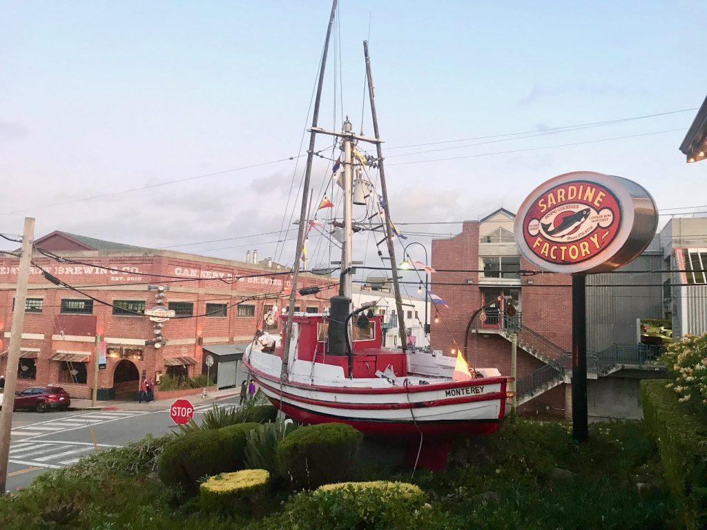 The Sardine Factory restaurant entrance, Cannery Row, Monterey, California