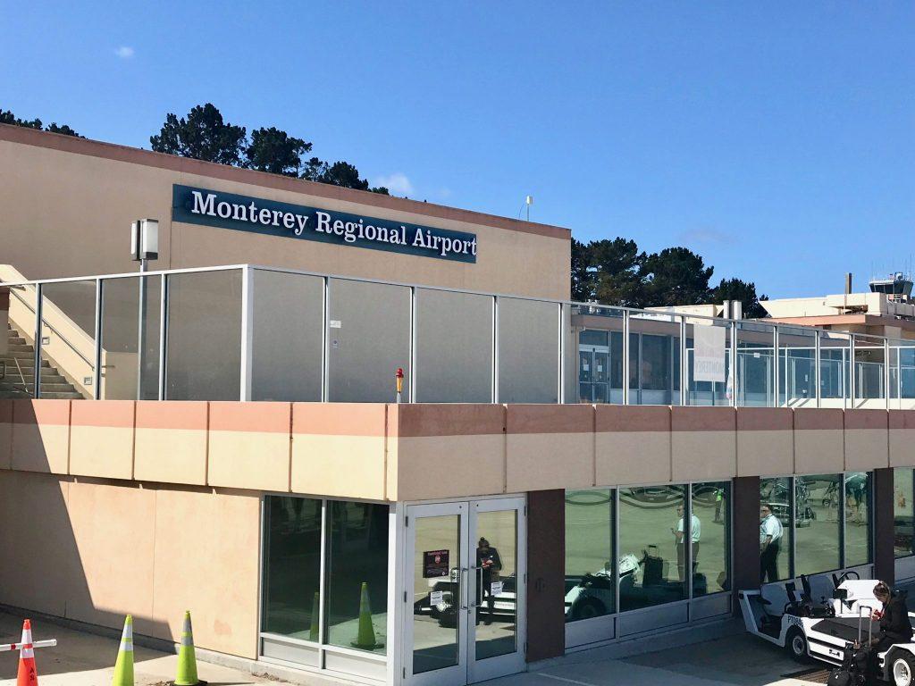 Monterey Regional Airport view from the tarmac, Monterey, California