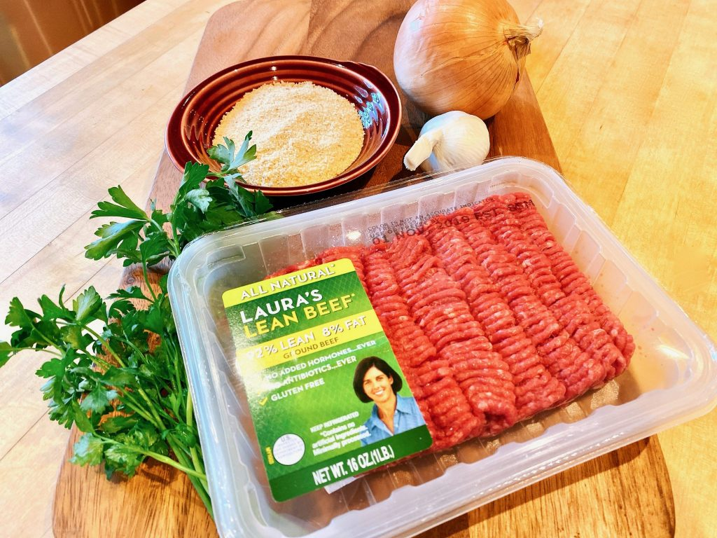 Laura's Lean Beef package with meatloaf ingredients
