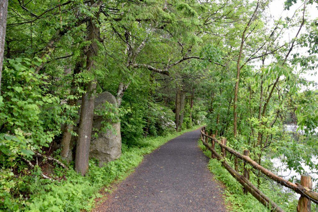 walking path at Mohonk Lake, New York