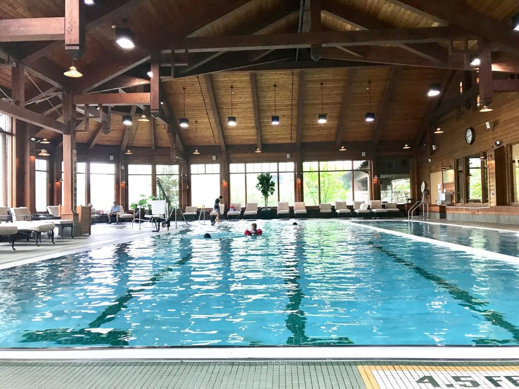 indoor pool at Mohonk Mountain House, New York