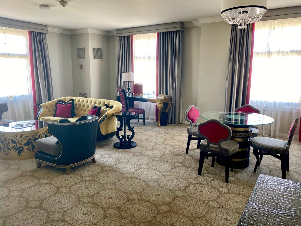 enormous living room suite at Huntington Hotel San Francisco