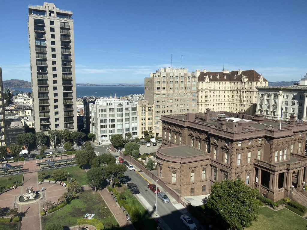 View of San Francisco Bay from the Huntington Hotel