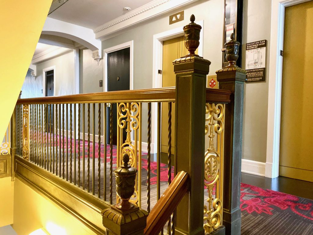 Huntington Hotel San Francisco hall and stairway