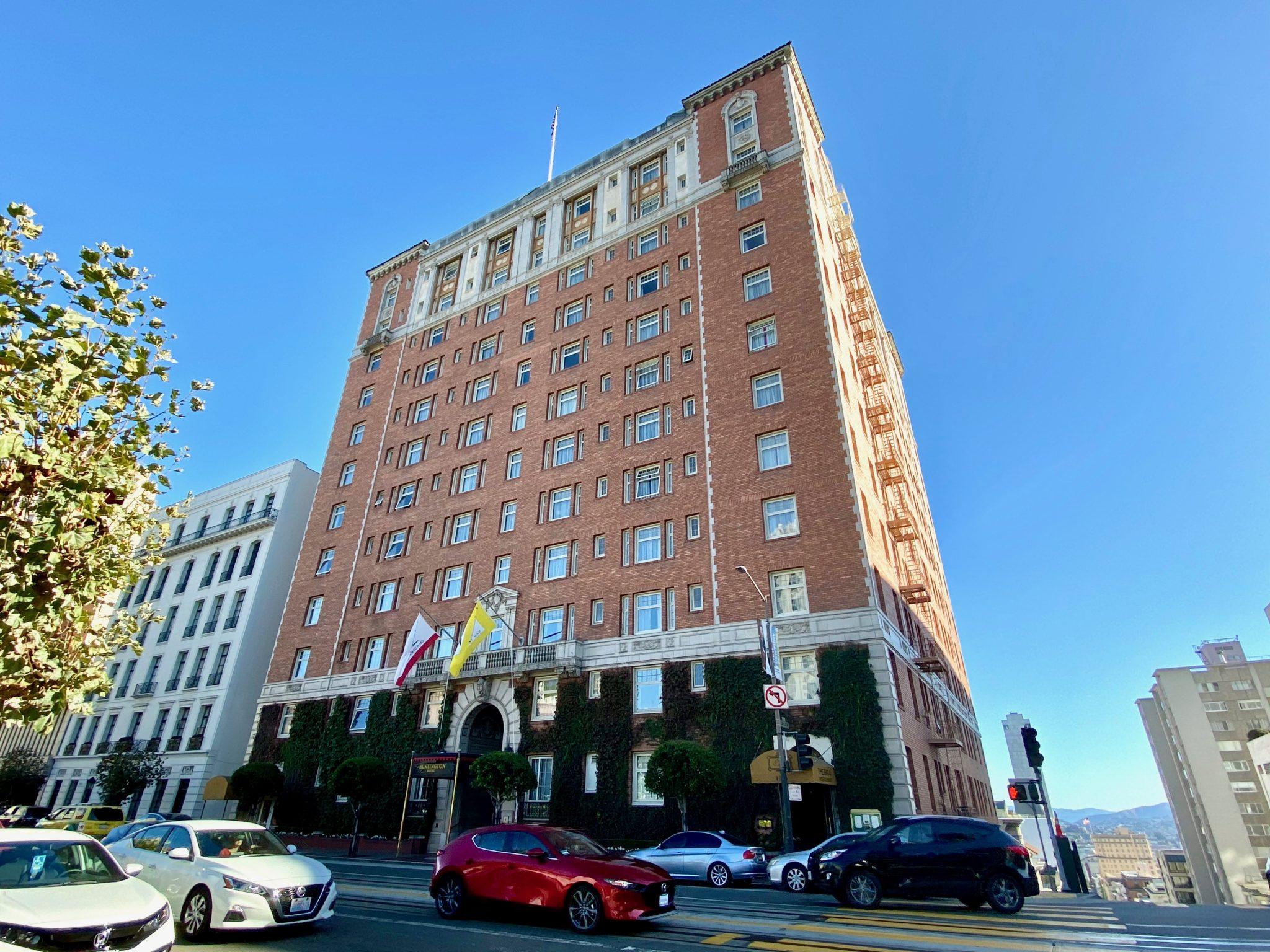 Huntington Hotel exterior, San Francisco