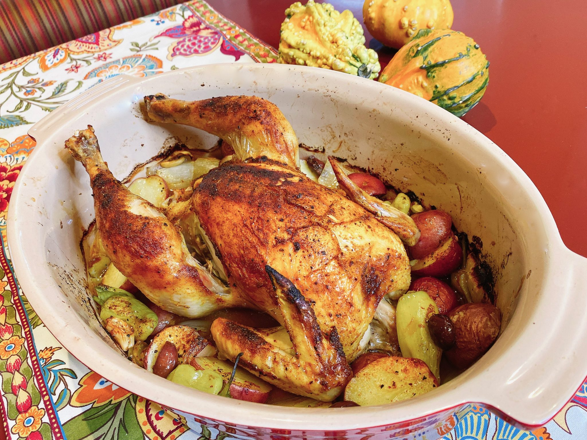 whole roasted Sonoma Red organic chicken