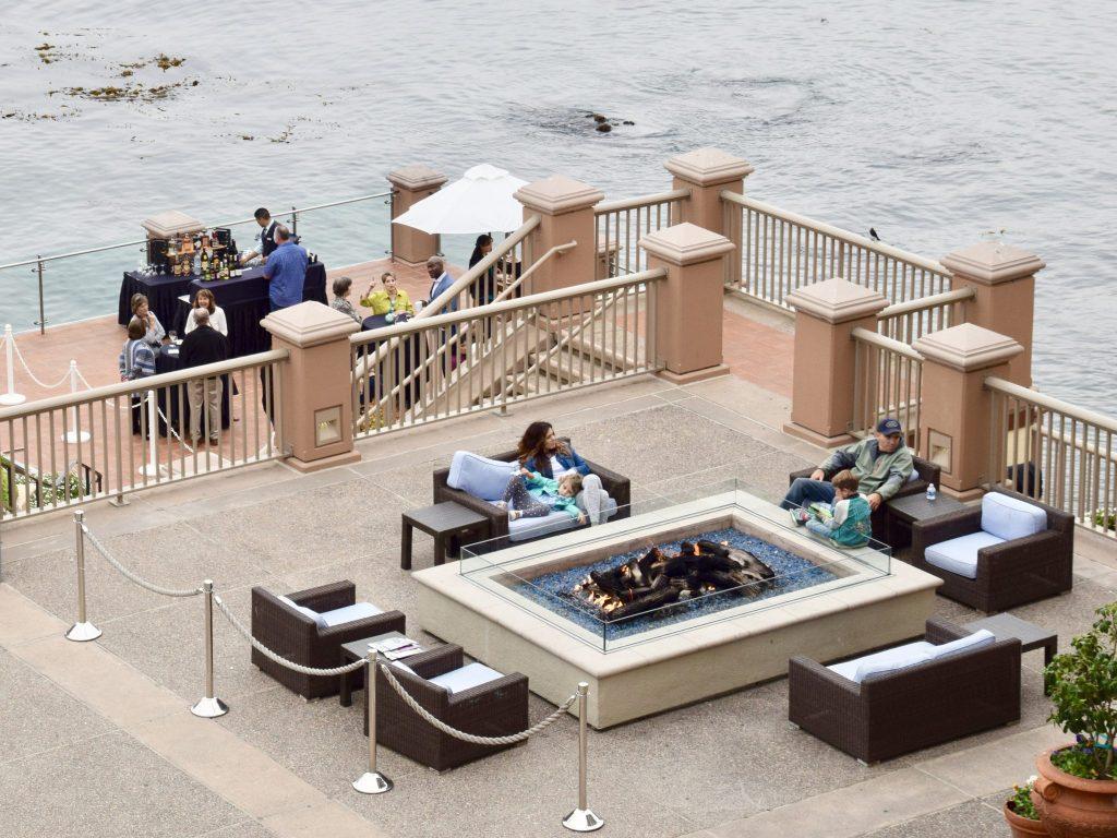 Monterey Plaza Hotel & Spa fire pit, Monterey, California