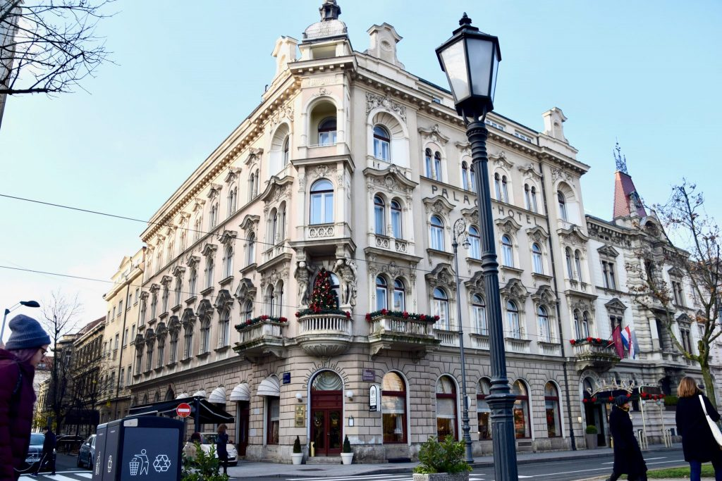 The Palace Hotel in Zagreb, Croatia is the oldest hotel in this capital city