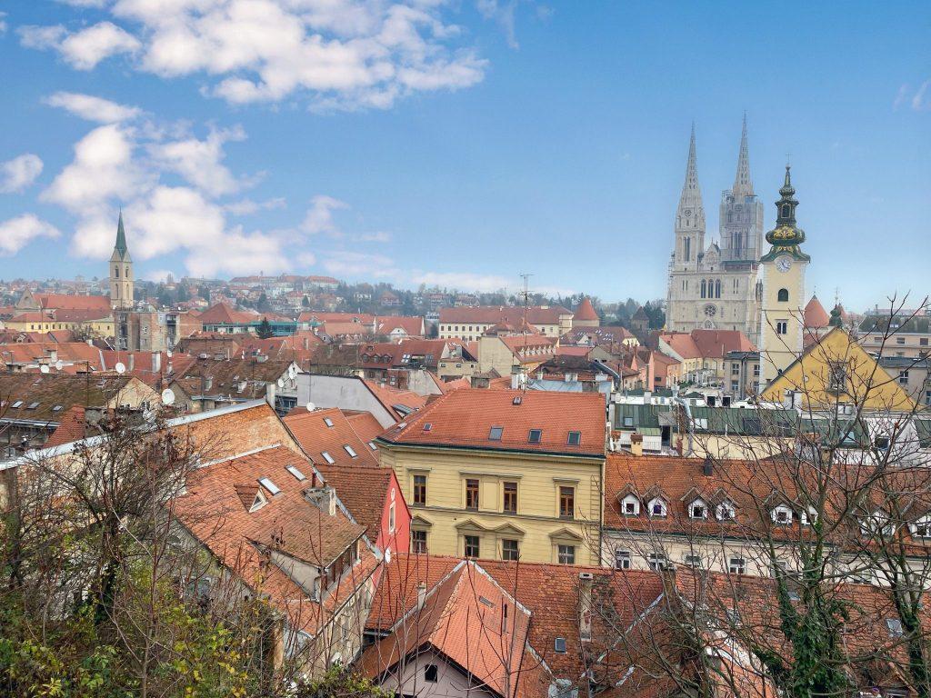 rooftop views in Zagreb, Croatia