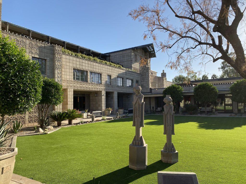 Frank Lloyd Wright Sprite sculptures at Arizona Biltmore Resort in Phoenix