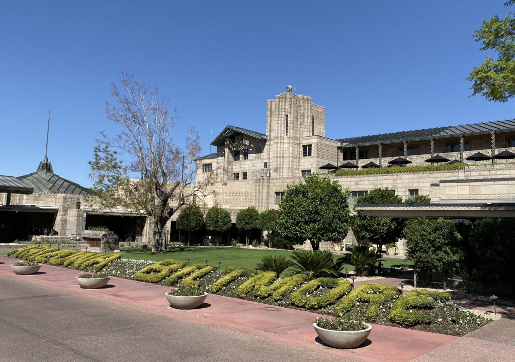 Arizona Biltmore Resort front entrance and facade