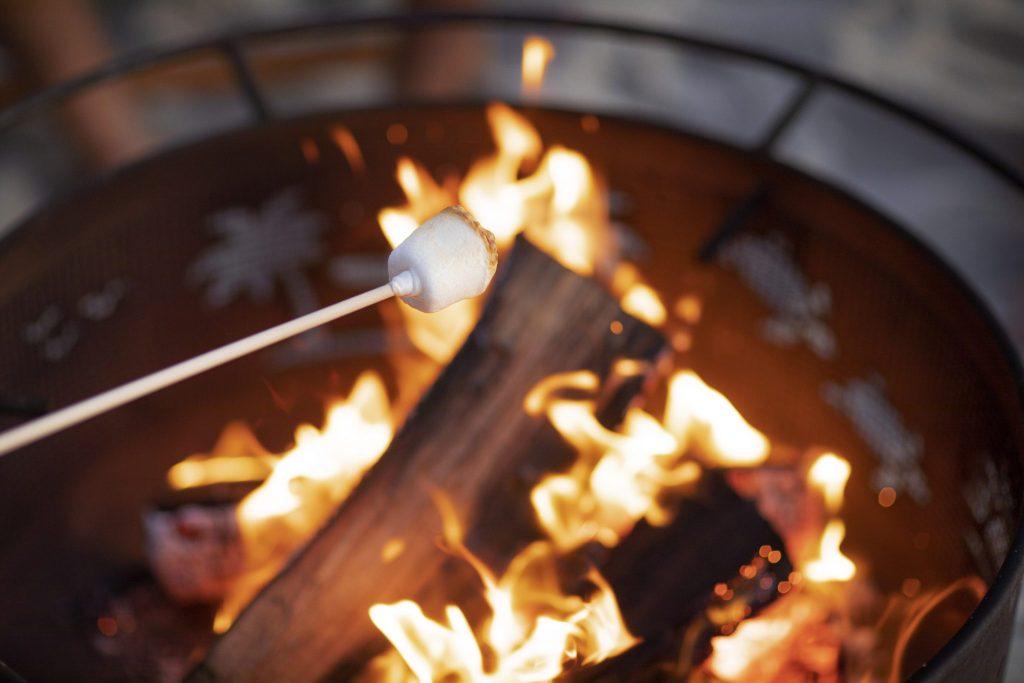 marshmallow roast on the beach in San Diego