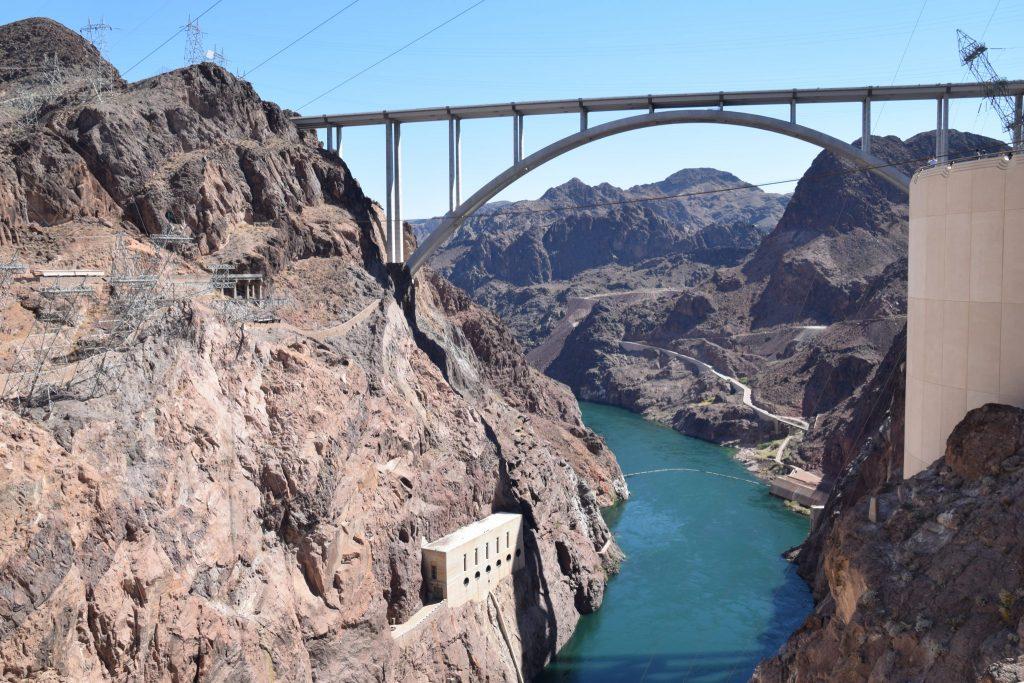 Bridge span over the Colorado River at Hoover Dam