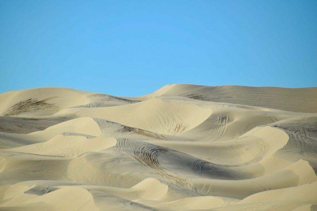 Sand dunes between California and Arizona along Highway 8