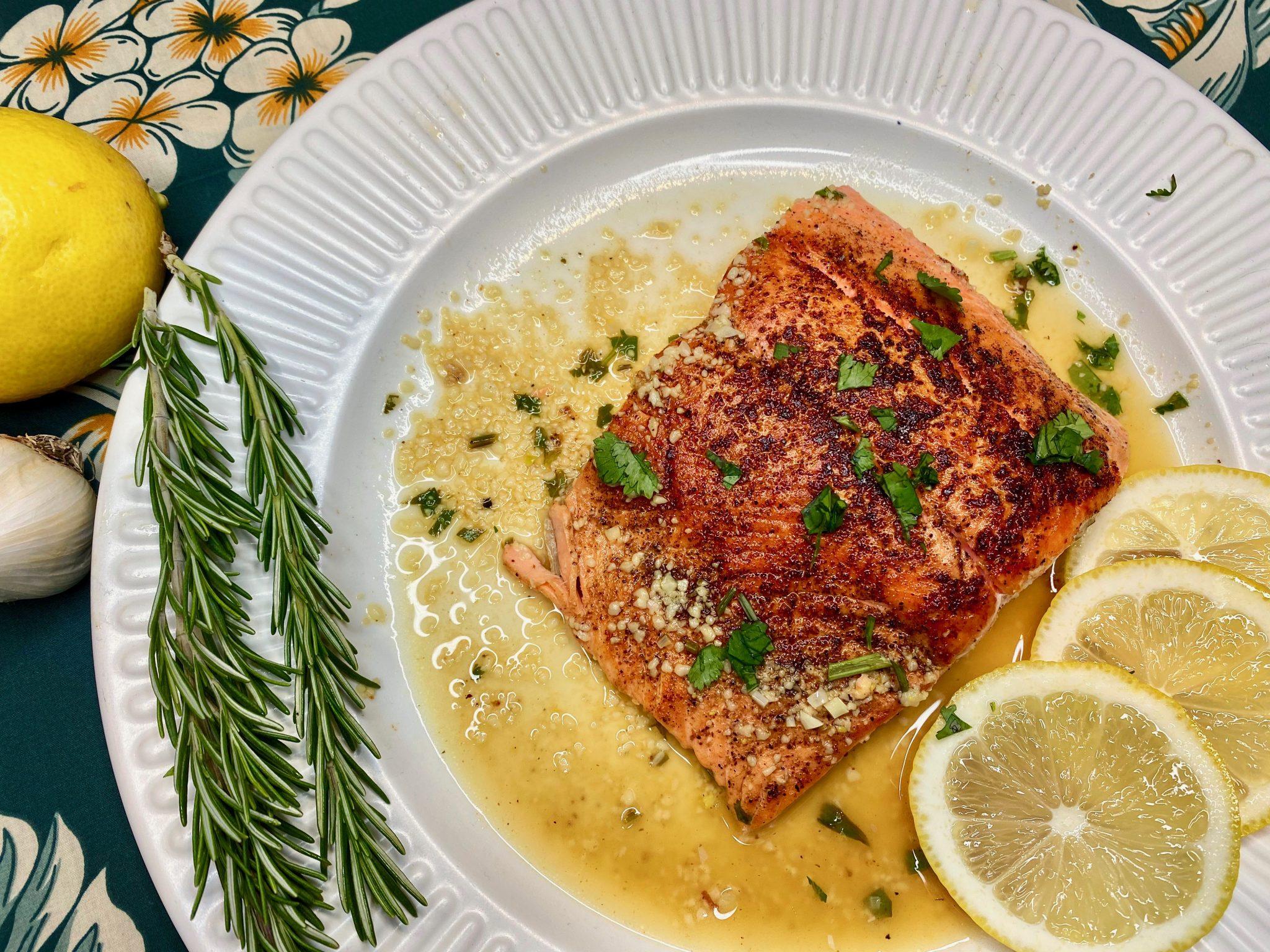 Creole Salmon Filets in Lemon Garlic SauceRecipe