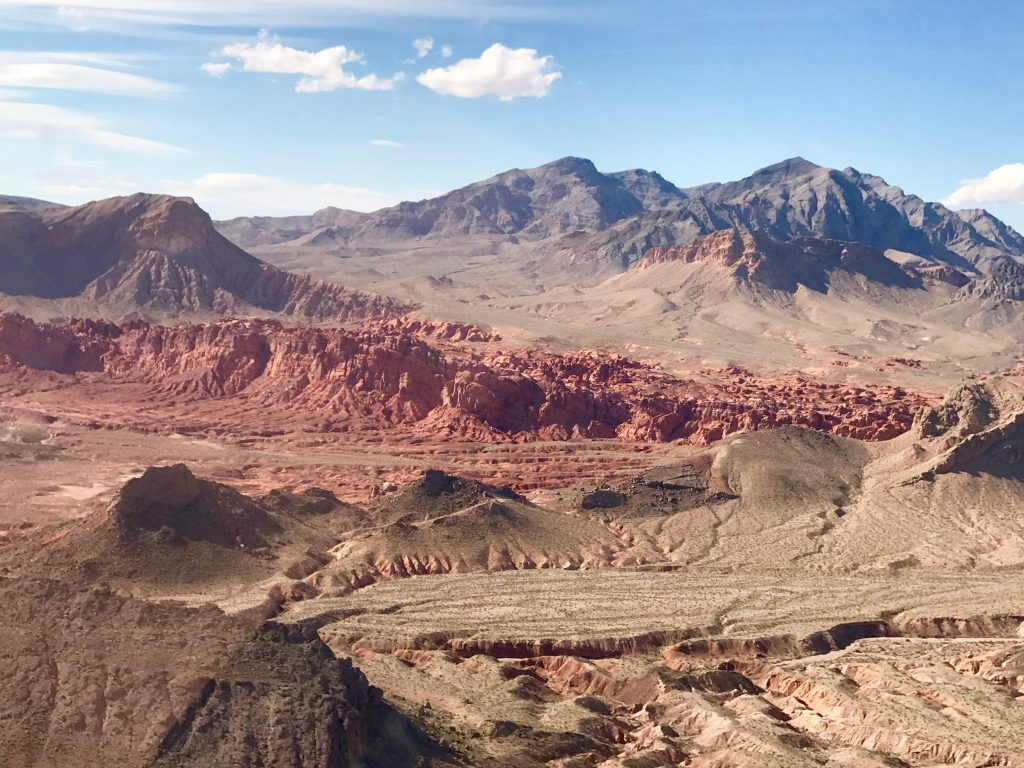 View of the Grand Canyon from helicopter
