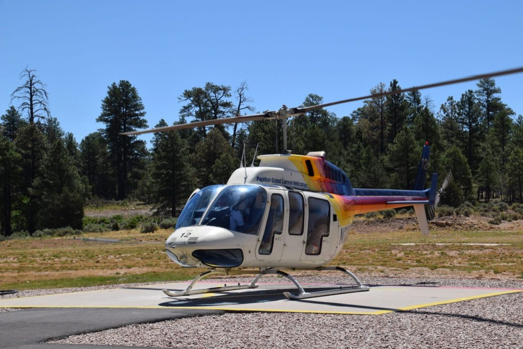 Papillon Helicopters gives rides to view the Grand Canyon