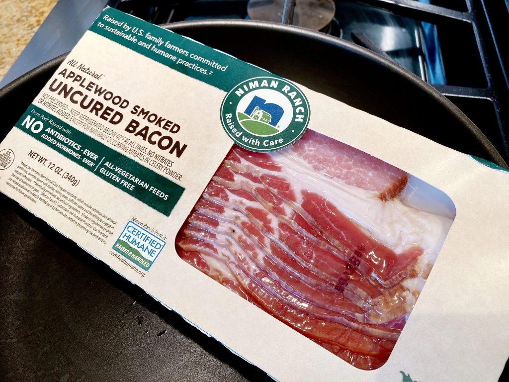 Package of Niman Ranch All Natural Applewood Smoked Uncured Bacon