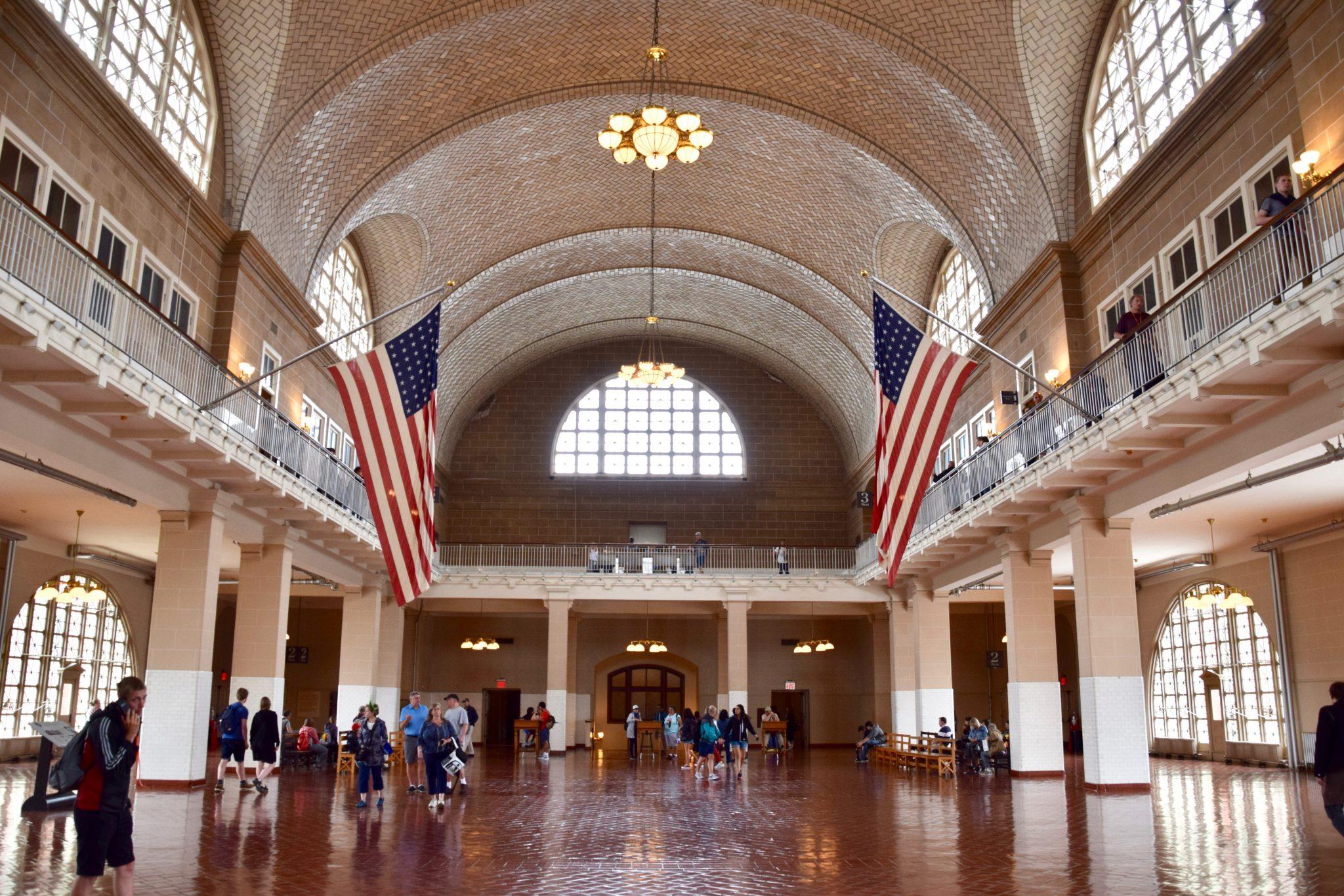 Great Hall at Ellis Island National Park, New York