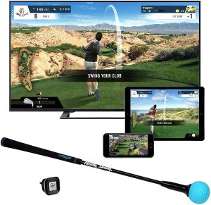 Phigolf Mobile and Home Smart Golf Game Simulator with Swing Stick