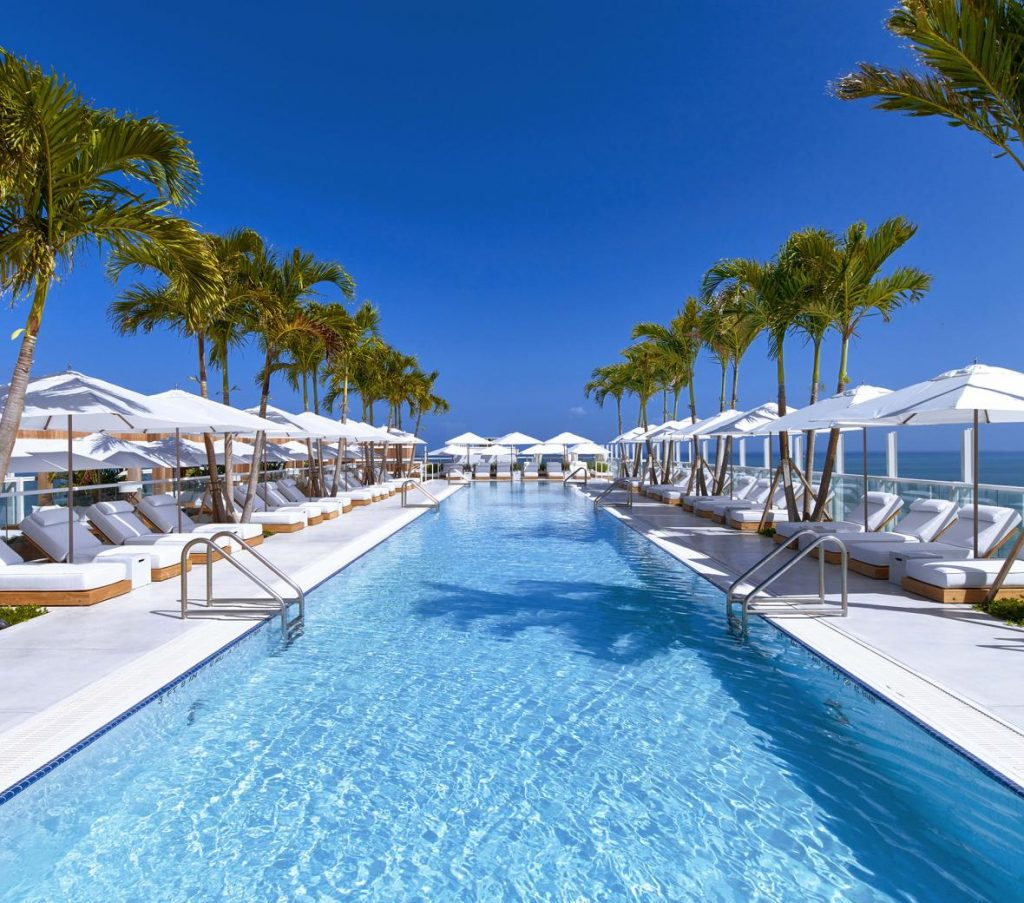 One of the most luxurious hotels in South Beach, the 1 Hotel is also environmentally conscious