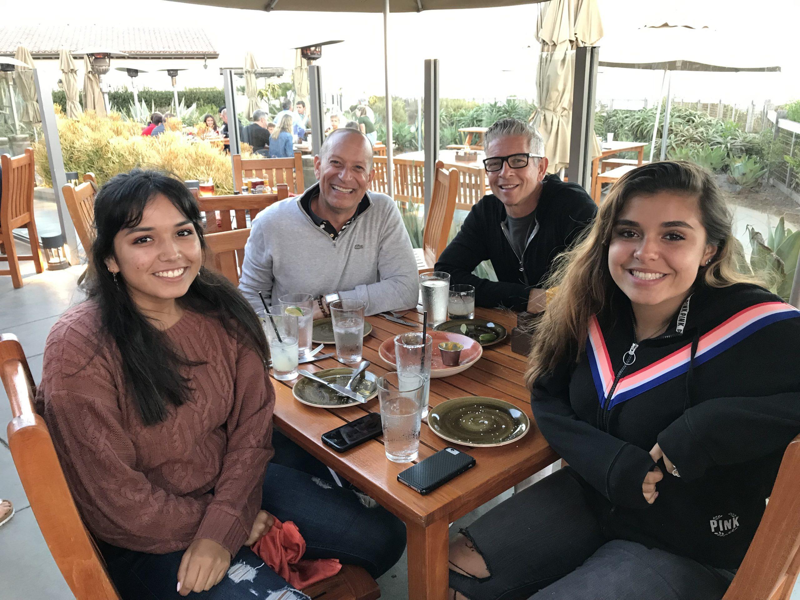 family dining outdoors at Terranea Resort in Ranch Palos Verde, CA