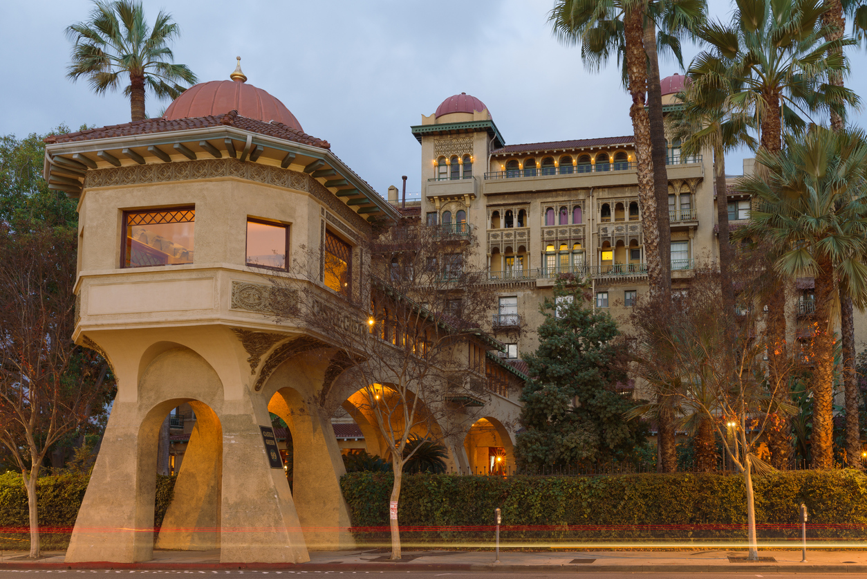 Pasadena, California/USA: image taken at dawn of Castle Green, a historic landmark building.