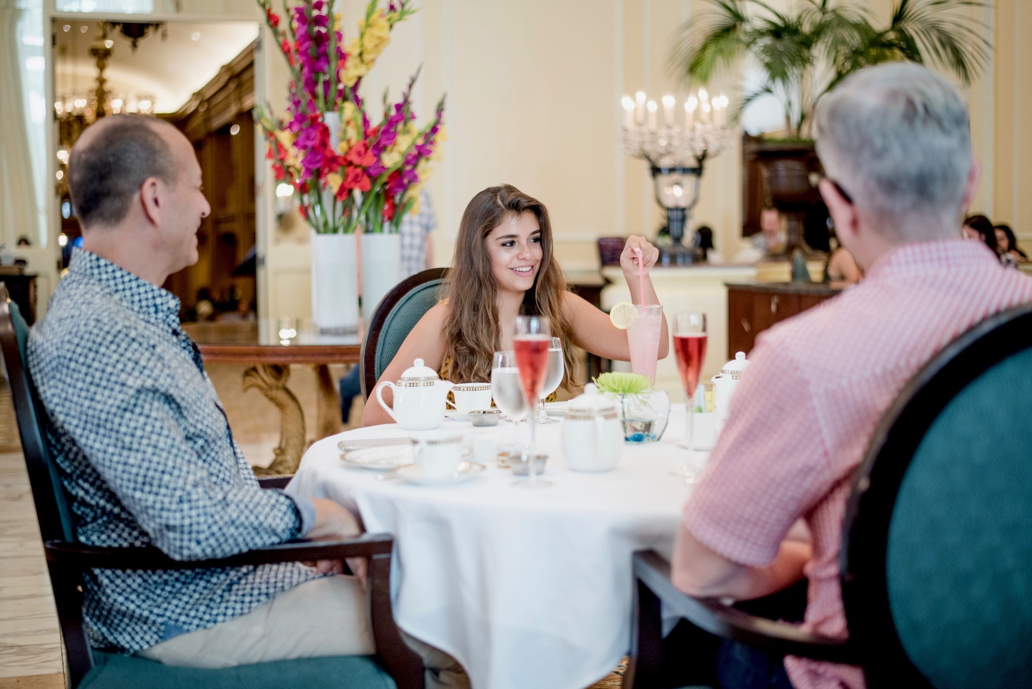 Family enjoys High Tea served at The Georgian Restaurant in the Fairmont Olympic Hotel in Seattle, WA