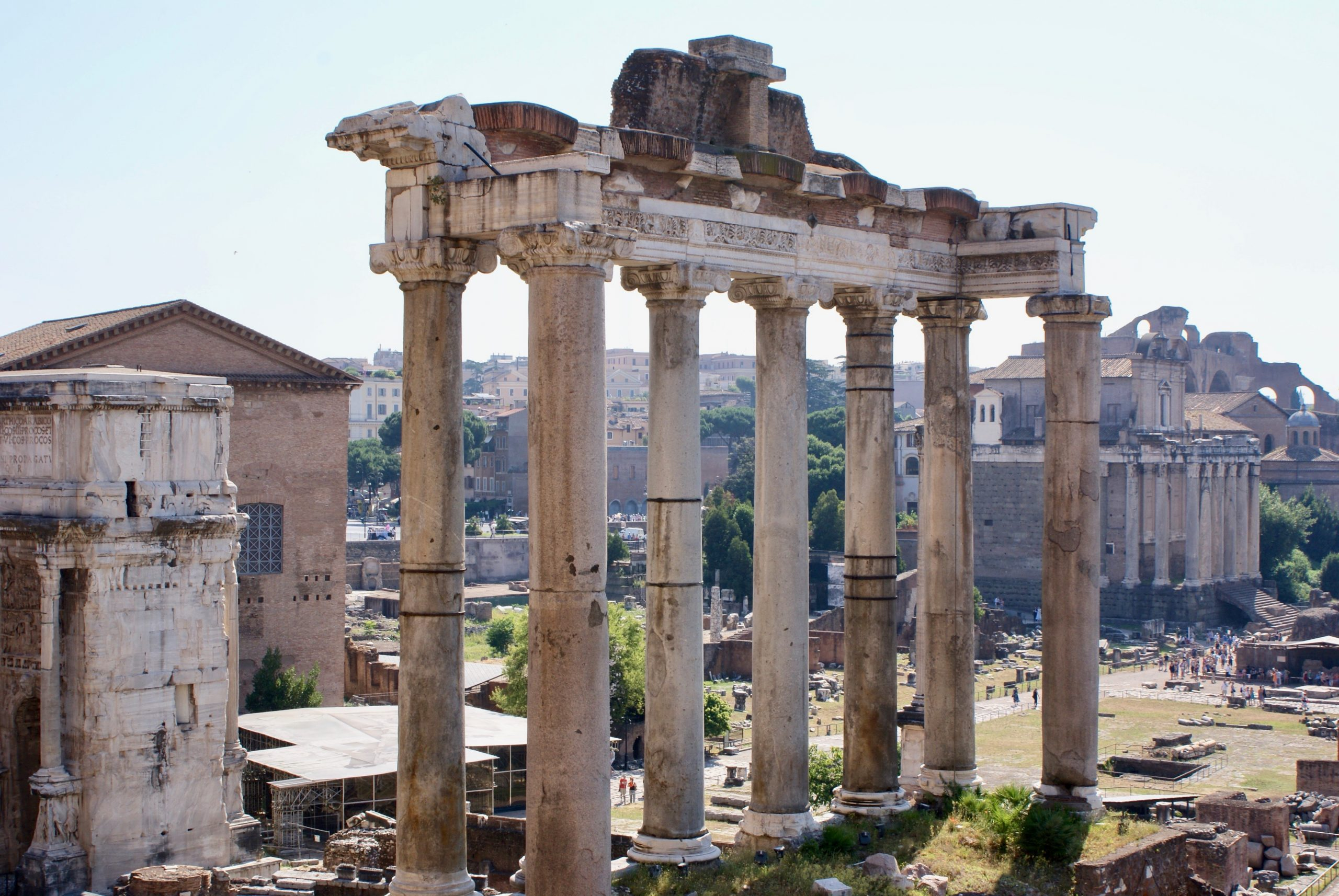 The Forum in Rome shows the remains of an ancient civilization, Rome, Italy